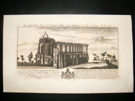 Buck 1774 Folio Architecture Print. Croyland Abbey, Lincoln
